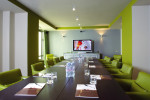 Meeting room lime green