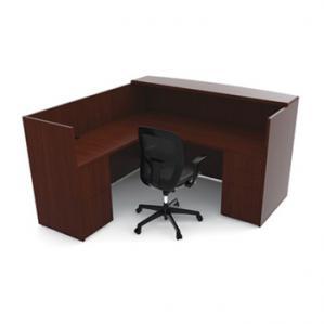 Cherryman Ruby L Reception Desk Double Pedestal