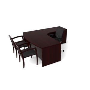 Cherryman Jade L Desk Bowfront Computer Corner