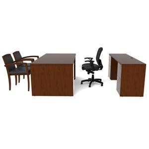 Cherryman Jade Desk and Credenza