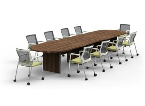 Cherryman Amber Series Expandable 16' Conference Table