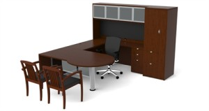 Cherryman Jade Collection U-Desk Set