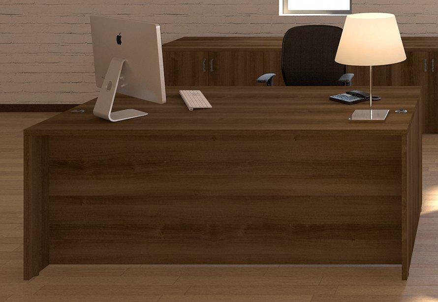 "Cherryman Amber Collection 48""x30"" Straight Front Desk w/ 3/4 Pedestal"