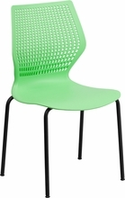 Astrid 770 lb Capacity Designer Green Stack Chair