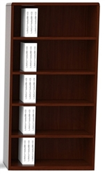 Cherryman Verde 4-Shelf Bookcase