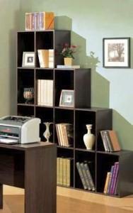 Rayburn Contemporary Dark Brown Cube Bookcase