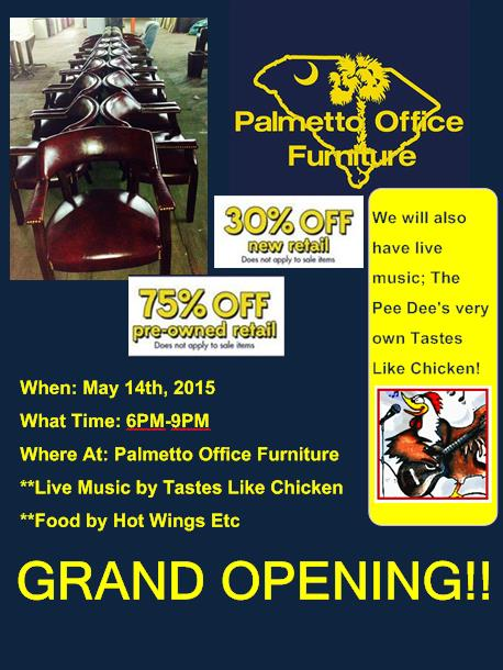 SALE Palmetto Office Furniture Grand Opening Flyer