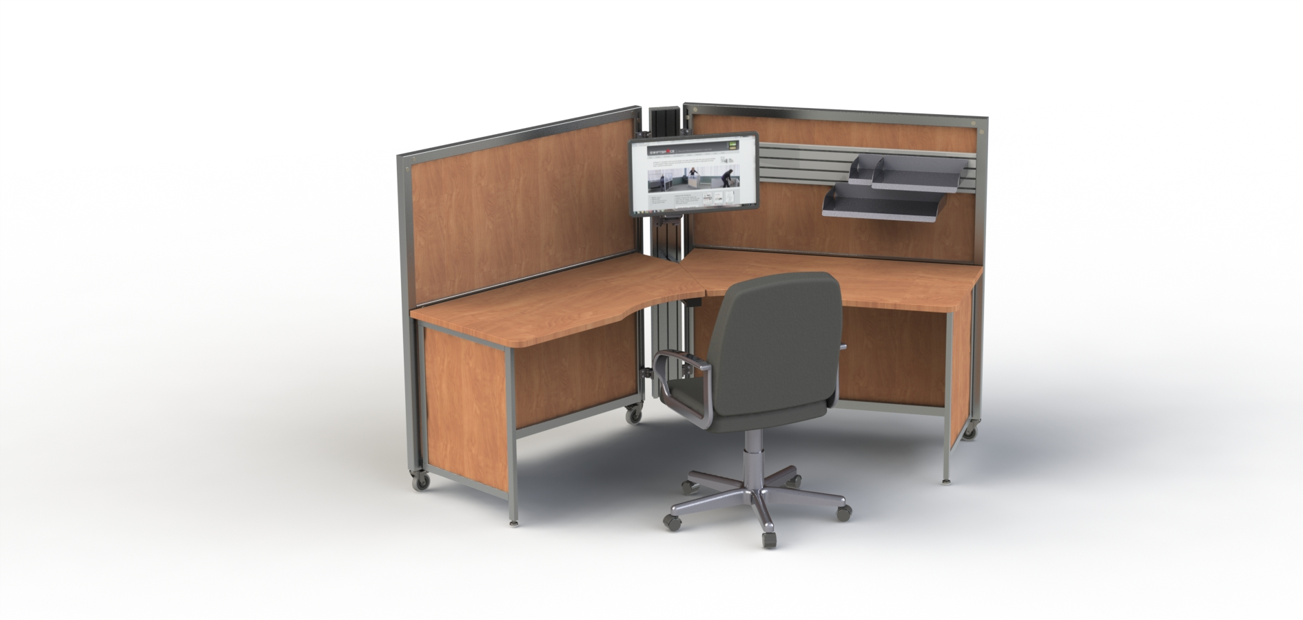 SwiftSpace 120 degree workstation