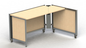Social 4' x 3' Workstation