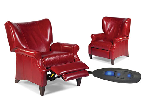 Fairfield Red Motorized Recliner Palmetto Office Furniture